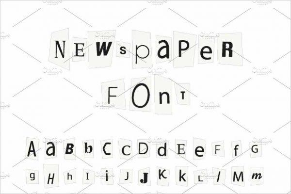 Black newspaper letters font