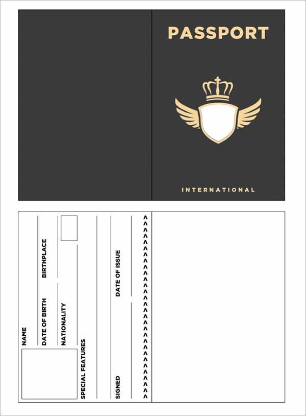 Blank Passport Template For Student