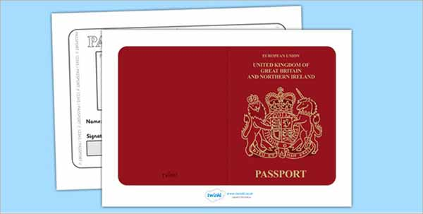 British Passport Template Photoshop