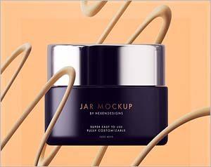 Cream Jar Mockup