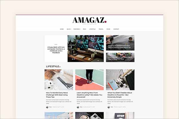 Creative Magazine Blog Templates