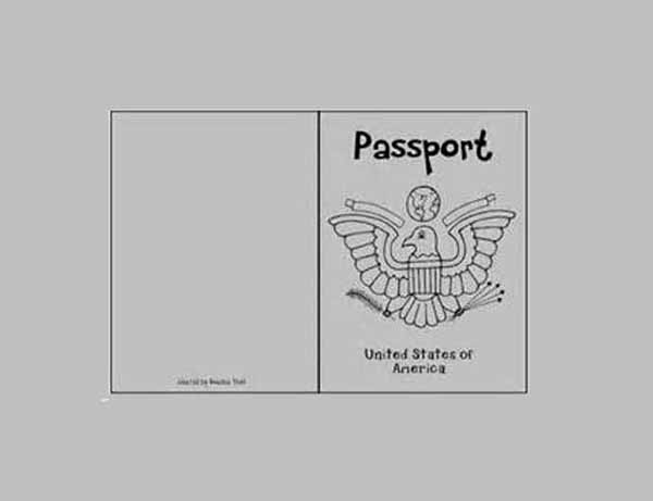 Fake Passport Template