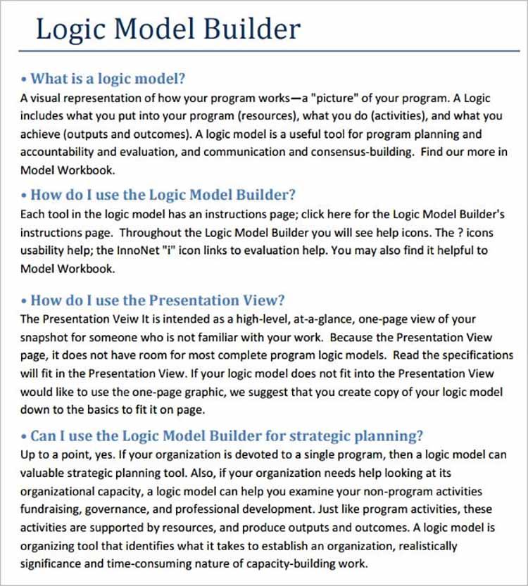 Logic Model Templates Bundle
