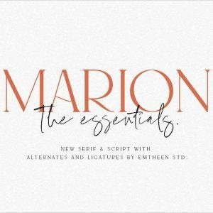 MARION Essentials Logo Font