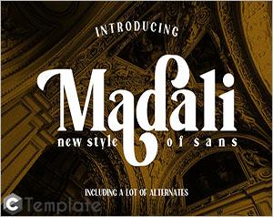 Madali sans serif font