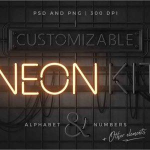 Neon alphabet kit 1