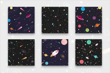 Outer Space Seamless Patterns