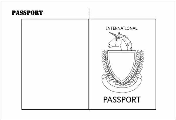 Printable Double Sided Passport Writing Frame