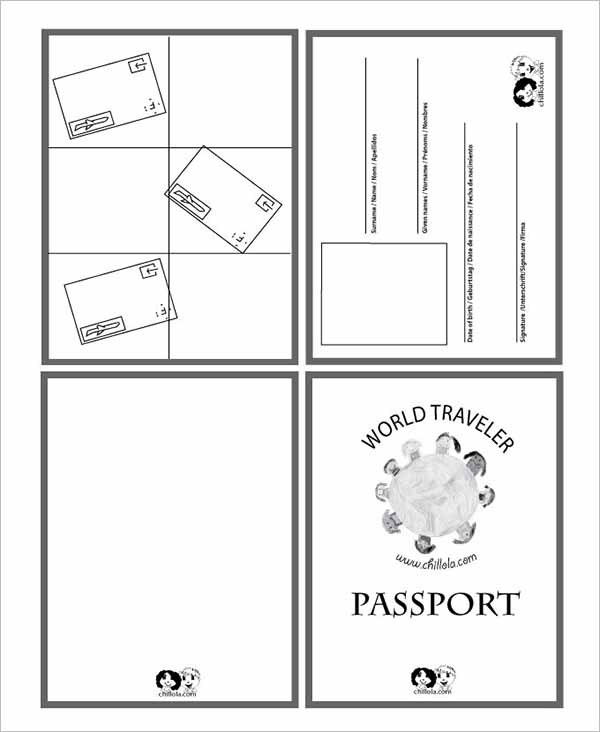 Sample Passport Template Photoshop