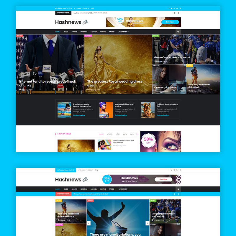 HashNews - Magazine & Newspaper WordPress Theme
