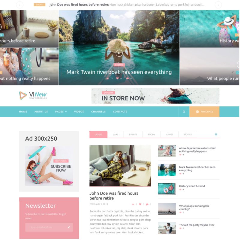 Vinews - Modern Media Portal WordPress Theme