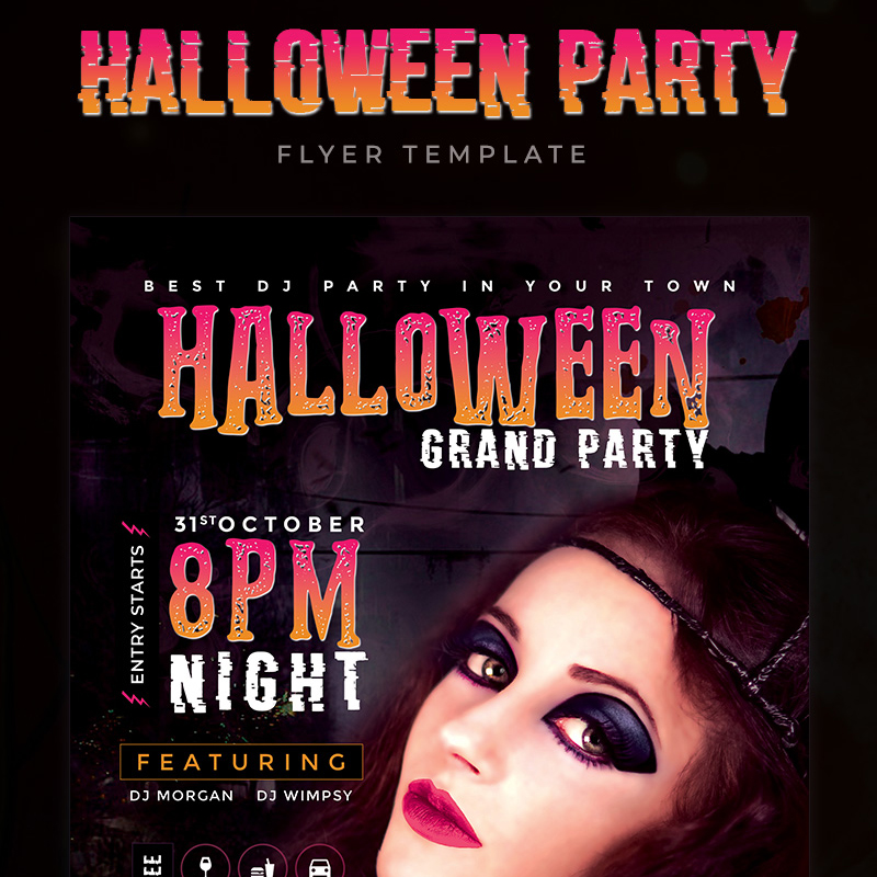 Halloween Grand Party Flyer Corporate Identity Template