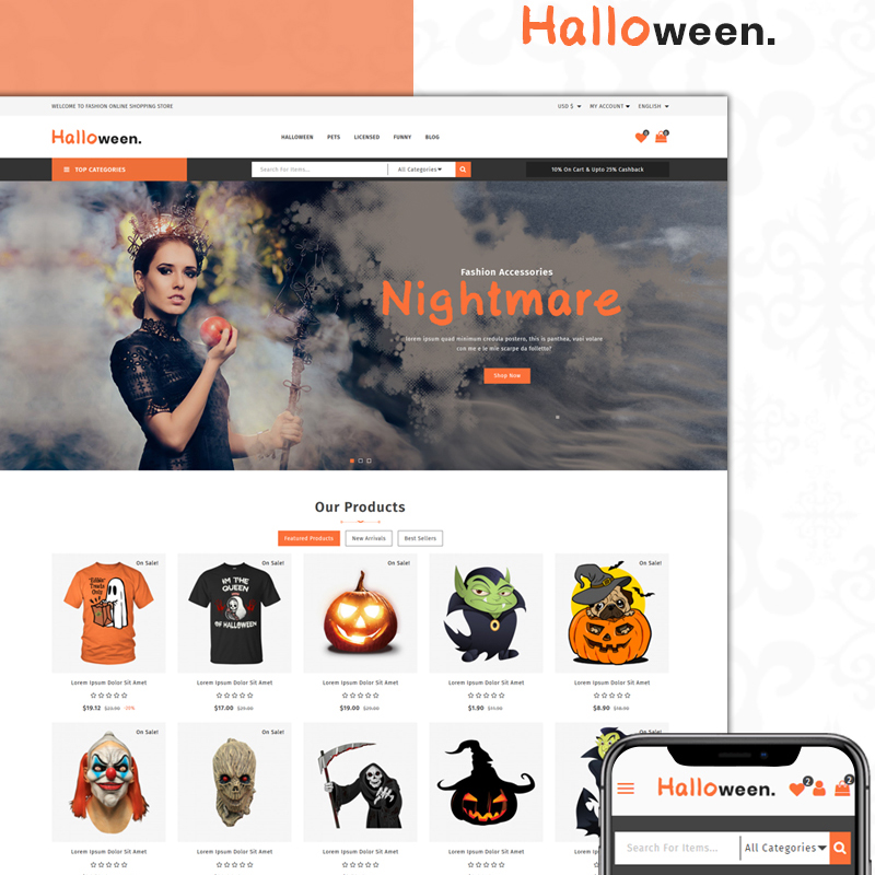 Halloween Store PrestaShop Theme