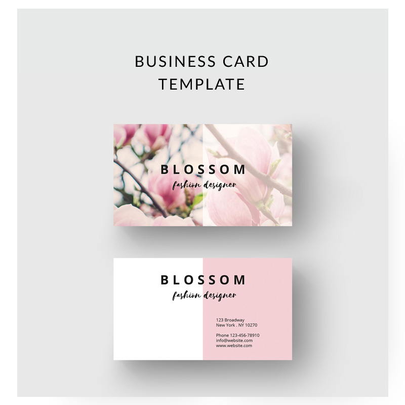 Vintage Flower Business Card Corporate Identity Template