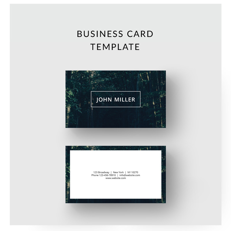 Forest Business Card Corporate Identity Template