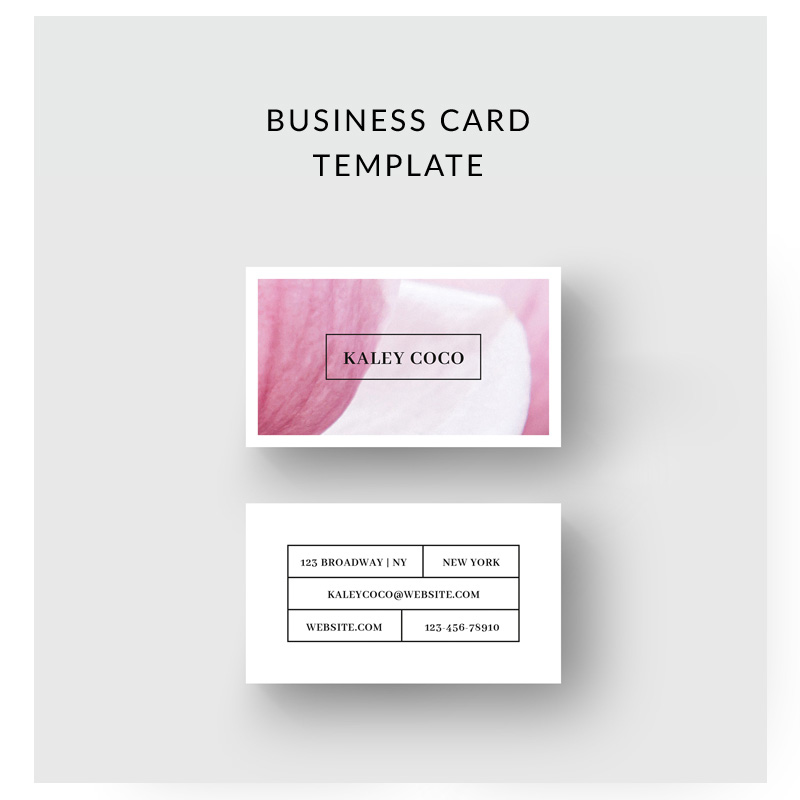 Business Card With Flower Background Corporate Identity Template
