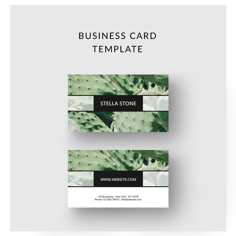 Cactus Business Card Corporate Identity Template