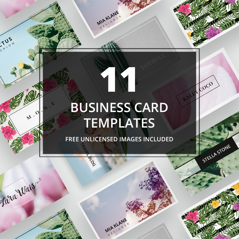 Business Card + images No. 01 Corporate Identity Template