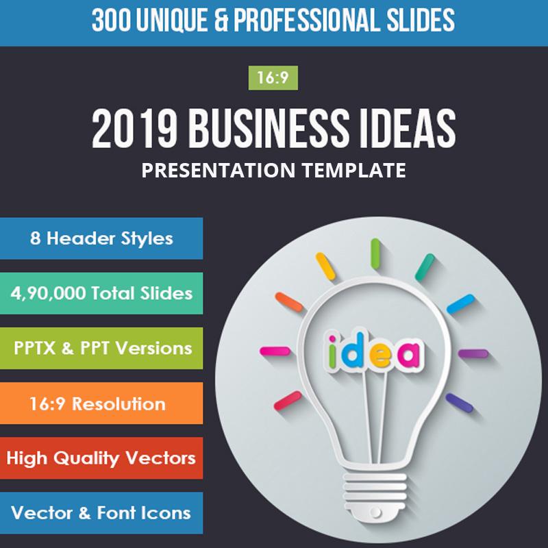 2019 Business Ideas Google Slides
