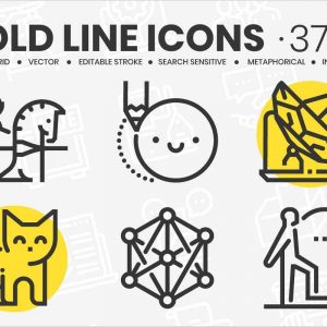 Bold Line Icons