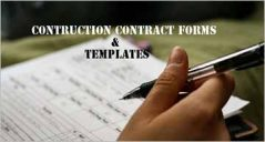 28+ Construction Contract Form Templates