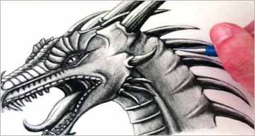 Dragon Pencil Drawing Sketches