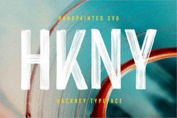 Hackney SVG - Bold Hand-painted Font