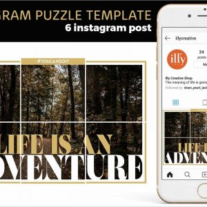 Instagram Puzzle Template