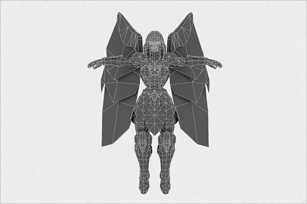 Low Poly Angel Female