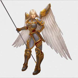 Low Poly Angel Female