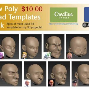 Low Poly Head Templates Pack