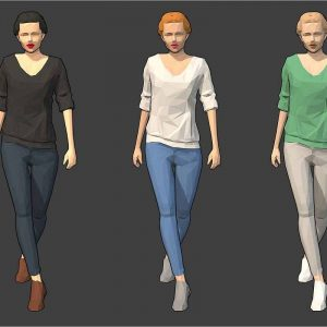 Lowpoly Female Character 1