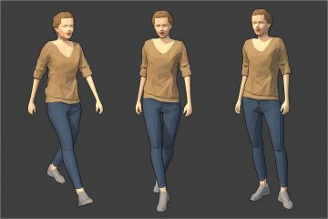 Lowpoly Female Character