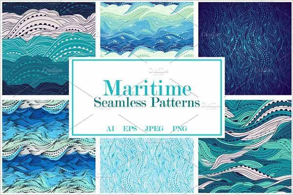 Maritime Seamless Pattern Set