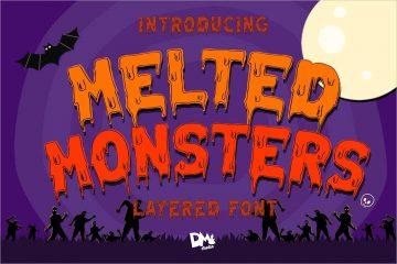 Melted Monster Halloween Pack