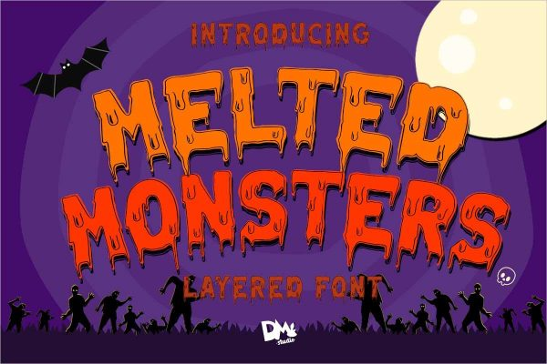 Melted Monster Halloween Pack - Free Download