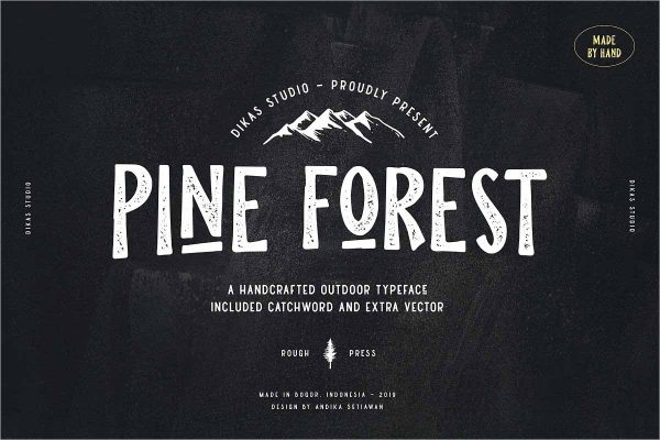 Pine Forest Outdoor Typeface - Free Download
