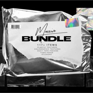 Plastic Wrap & Torn Paper Bundle