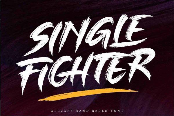 SINGLE FIGHTER Brush Font