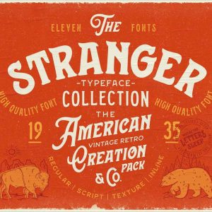Stranger Font Collection