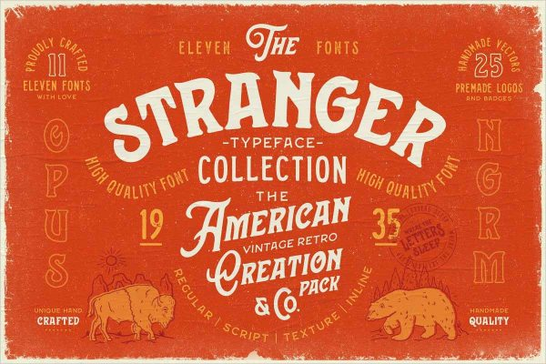 Stranger Font Collection