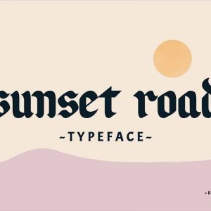 Sunset Road Typeface
