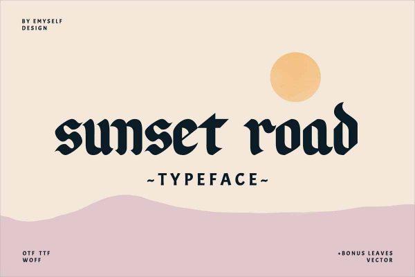 Sunset Road Typeface