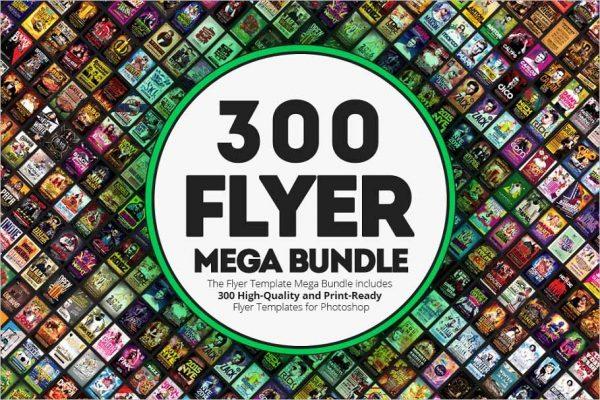 300 Flyer Templates Mega Bundle