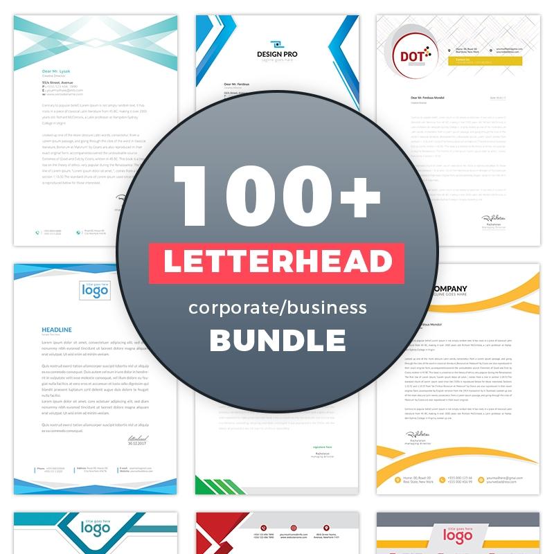 Massive Corporate 100+ Letterhead Design Corporate Identity Template