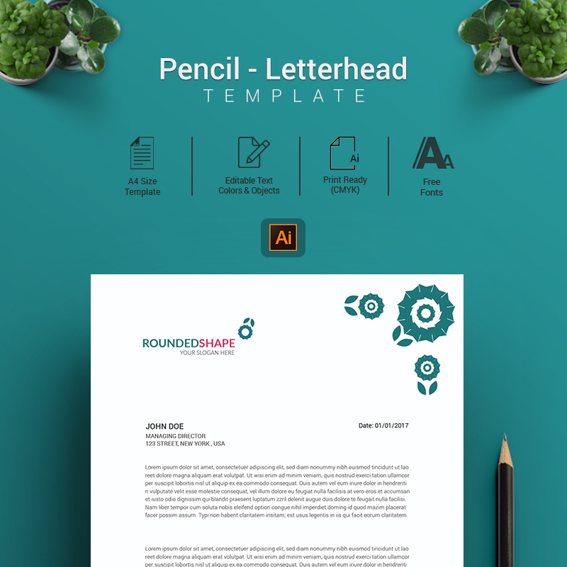 Pencil – Letterhead/Cover Letter Template Corporate Identity Template