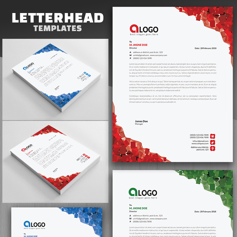Abstract Letterhead Corporate Identity Template