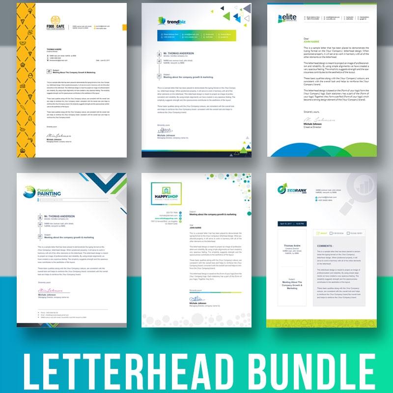 Letterhead Template Bundle Corporate Identity Template