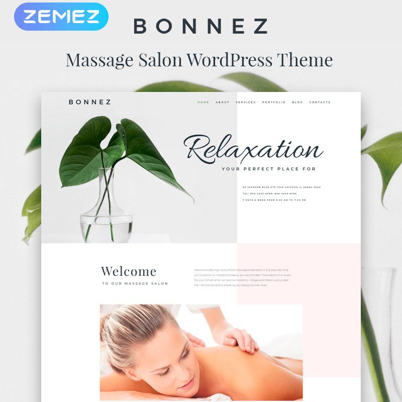 Bonnez - Massage Salon Ready-to-Use Minimal Elementor WordPress Theme