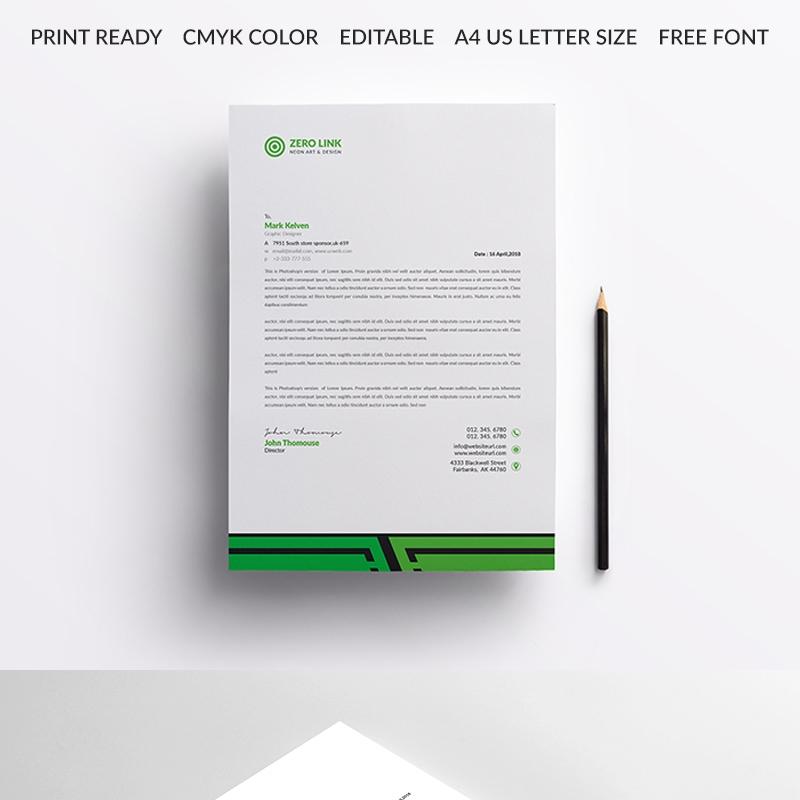 Letterhead Design Corporate Identity Template